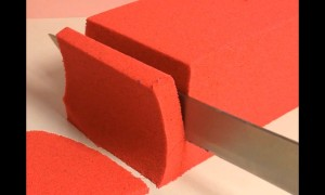 Satisfying compilation of kinetic sand being cut