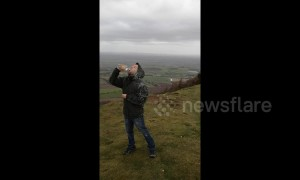 UK man denied drink of water by Storm Gareth while hiking