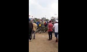 Watch elephant easily win tug-of-war against 17 men
