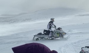 Snowmobiling Climb Sets off Avalanche