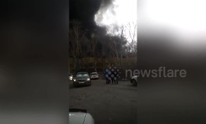 Major fire breaks out at rubber factory in central Russia