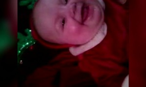 Christmas Baby has the Giggles!