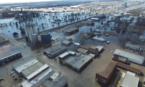 Severe Flooding in North Bend Nebraska