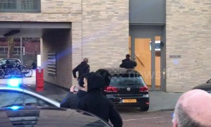 Police activity at scene of Utrecht shooting arrest