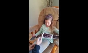 Toddler can't contain tears upon hearing baby sister news