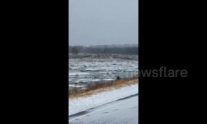 Nebraska bridge washes away in severe flooding