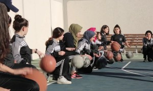 Gaza girls defy challenges by enrolling at basketball academy
