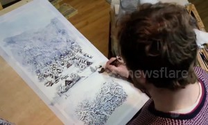 Stunning watercolour painting time-lapse of a UNESCO World Heritage Site in Japan