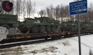 Train Transports Tons of Military Vehicles