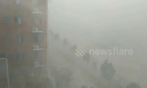 Powerful wind and rainstorm batter Anhui in China, killing two