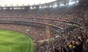 Thousands stand silent at AFL match for Christchurch shooting victims