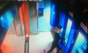 Angry man smashes ATM machines with brick after having argument with wife