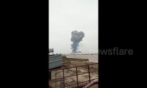 Major explosion at chemical factory in China's Jiangsu