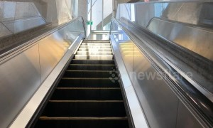 Stairway to heaven? Trick of light creates 'slinky' style illusion on Toronto escalator