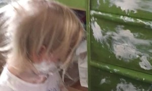 Little Girl Gets Into Diaper Cream