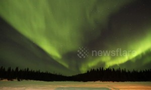Spectacular Northern Lights illuminate Canadian skies