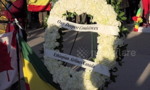 Vigil in Toronto, Canada for victims of Max 8 Ethiopian airlines plane crash