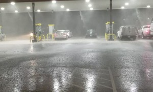 Heavy Rains and Hail Pummel Texas Truck Stop