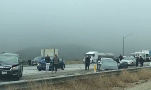 Fogged up and Clogged up on California Freeway