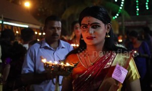 Men dress up as women for traditional ritual at annual Indian festival