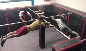 Synchronized Bar Swinging