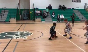 Seven-year-old smashes basketball game at New York school