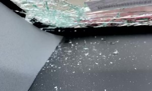 Rental Car Wrecked by Hail Storm