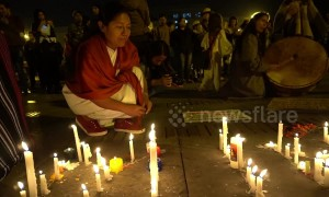 Candlelight vigil in Bogota to honour murdered Indigenous peoples