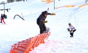 Snowboarding Over Chairs Fail