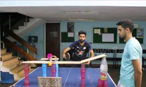 Unbelievable 'first ever of its kind' ping pong trick shot