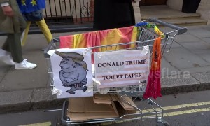 Donald Trump patterned toilet paper goes on sale in central London