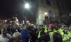 Furious pro-Brexit protesters voice anger outside Downing Street