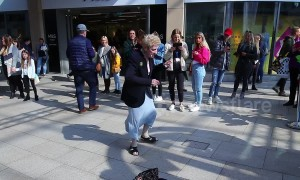Elderly woman busts out dance moves to 90's Ibiza club anthem in Leeds