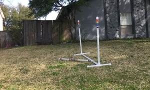 Dog Fails Jump, Nails Forward Flip