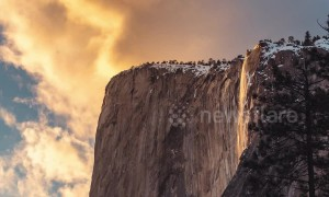 Timelapse captures the world-famous Yosemite 'firefall'