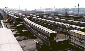Advanced mechanism swaps out the tracks on Chongqing Rail Transit