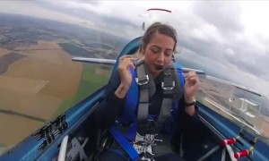 Pilot endures negative G torture while riding in stunt plane