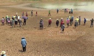 More reservoirs dry out in Thailand amidst water shortage due to El Nino warm phase