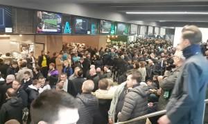 Spurs fans soak up atmosphere inside new stadium
