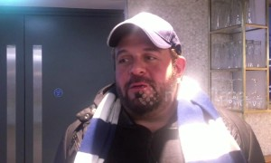 Spurs fan and star of 'Man v Food' Adam Richman interviewed after opening of new White Hart Lane
