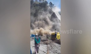 Major landslide hits Indian-controlled Kashmir