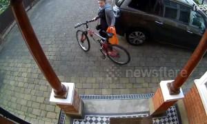 Doorbell cam catches stranger stealing London teen's bike