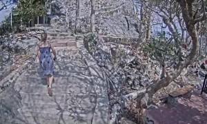 Murdered German backpacker's last moments captured on CCTV
