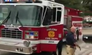 Firemen visit son of deployed airman, open door to best surprise ever!