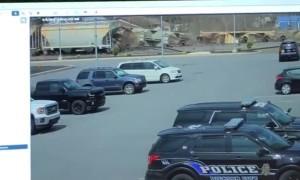 Surveillance camera catches train derailment