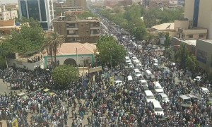 Thousands line the streets of Khartoum on day of al-Bashir's arrest