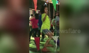 Thai girl has crazy dance moves
