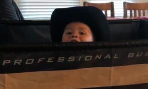 Baby Bull Rider Birthday Present