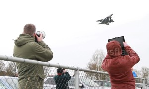 Plane spotters gather to watch Europe's 'largest exercise for fighter jets'