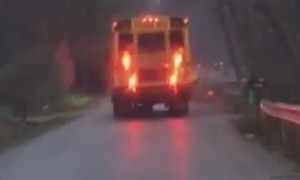Mailbox Mangled by School Bus